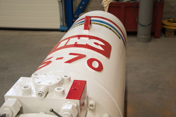Image of the IHC S70 hydraulic impact hammer
